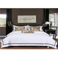 China Satin White 400T And 100% Goose Cotton Hotel Bed Linen / Hotel Bedding Collection Sets wholesale