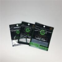 China Medical Weed Leaf Three Side Seal Pouch Smell Proof Mylar Bags Customized With Window wholesale