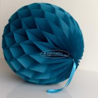 Buy cheap Peacock Tissue Paper Honeycomb Balls Pom Poms With Satin Ribbon Loop For Hanging from wholesalers