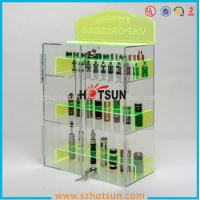 China clear acrylic e-cigarette display stand /e-liquid display case / e liquid bottle display wholesale