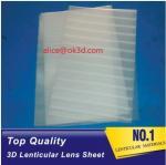 China PET lenticular materials thinner lens 51x71cm,0.58mm 100LPI lens Sheet 3D Lenticular  film materials for UV offset print wholesale