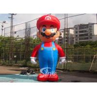 China 5m High Advertising Big Inflatable Super Mario For Promotion Activities From Guangzhou Inflatables wholesale