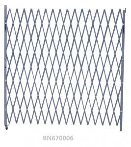 Warehouse Entrance Swing Steel Folding Security Gates 7.5' Opening X 6.5' H