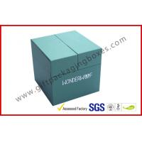 China Special Emerald Pop Up Custom Gift Boxes Silver Logo Foiled Promotion Gift Package wholesale