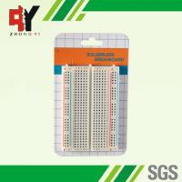China Square Hole Solderable Breadboard Red / Blue Strips For Power Supply Connections wholesale
