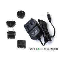 China AC DC Wall Mount Interchangeable Plug Power Adapter Input 50hz / 60hz 12V 0.5A wholesale