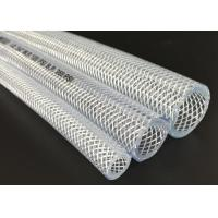 China Odorless PVC Transparent Hose , Fiber Braided Hose / Tubing ROHS Approved wholesale