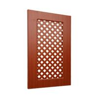 China Ventilated Replacement Bathroom Cupboard Doors With Wood Grain Pvc Film Surface wholesale