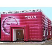 China Customized Colorful PVC Tarpaulin Cube Tent with Logo Printing wholesale