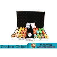 China Texas Poker Chip Set / 11.5g Clay Casino Chip With Aluminum Case wholesale