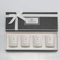 China Birthday Gift Home Decoration Scented Soy Wax Candle Set With Luxury Ribbon Box wholesale