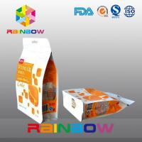 China Custom Printed Eight Side Sealed Snack Bag Packaging With Zipper And Window wholesale