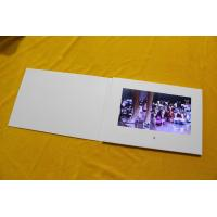 China Thin paper card promotional A4 size video brochure 10'' wide screen white blank greeting card for custom design wholesale