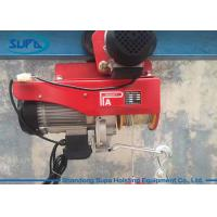 China Single Phase 2000kg Electric Wire Rope Hoist , Portable Pa Mini Electric Hoist Pulling on sale