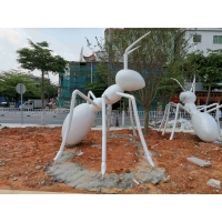 China White Ant Metal Animal Sculptures Square Contemporary Garden Ornaments wholesale