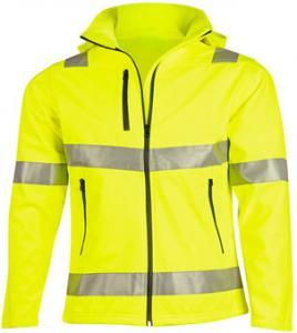 China Heavy Duty Mens Reflective Jacket , Customized Color Hi Vis Softshell Jacket on sale