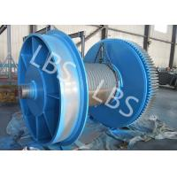 China Fully Machined Wire Rope Winch Drum With Lebus Sleeves / Oilfield Drums wholesale