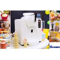 China 300 W Power Home Frozen Yogurt Machine For Ice Cream / Beer Slush , White Plastic Shell wholesale