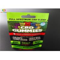 China CBD GUMMIES Plastic Blister Packa Bags Laminated Aluminum Sachet With Window wholesale