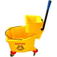 China 36L Mop bucket with wringer 35qt mop bucket and wringer wholesale