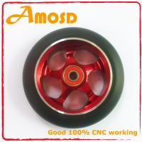China Alloy metal core, PU scooter wheels,110mm wheel wholesale