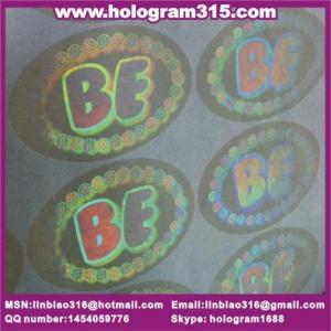 China Transparent hologram label wholesale
