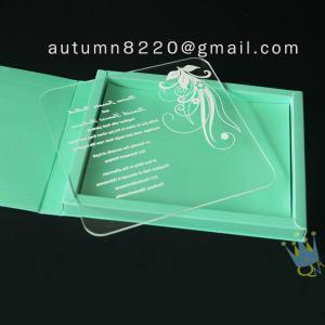 China simple wedding invitation card wholesale