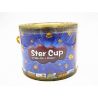 China 4g Star Chocolate Cup In PVC Jar Sweety Chocolate With Crispy Cookie wholesale