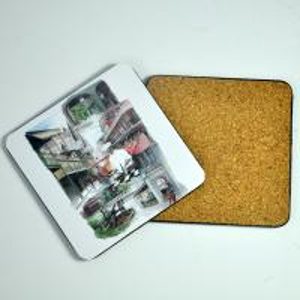 China Souvenir gift for the Eiffel Tower custom Eiffel mat cork mdf mat wholesale