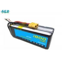 China Rechargeable RC Car Battery 35C 14.8V 1800mAh Li Polymer For Mini Helicopter / Airplane wholesale