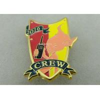 China Gold Plating 3D Metal Soft Enamel Pin / Police Military Army Pin Badges on sale