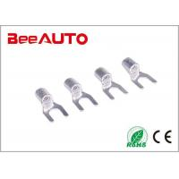 China Electrical Furcate Non Insulated Crimp Connectors , Spade Non Insulated Wire Connectors wholesale