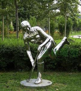 China Gray Iron Rodin Portrait Sculpture , 304 Stainless Steel Sculpture Human Figure wholesale