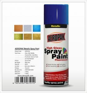 China Aeropak  aerosol can 400ml 10oz metallic spray paint with all colors acrylic wholesale