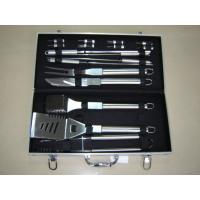 China 18pcs stainless steel handle BBQ tools in a case on sale