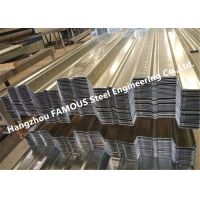 China 1-3mm Corrugated Silver ISO 3834 Metal Floor Decking Galvanized wholesale
