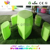 China Custom Green Cute Eye Shape Kids Chair And Stool With Colorful Options wholesale