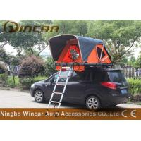 China Orange Color Rooftop Vehicle Tents Aluminum Frame With Ladder For Outdoor Camping wholesale