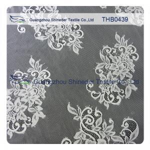 China White / Black 100% Nylon Eyelash Bridal Lace Trims For Special Summer Dress wholesale