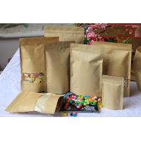 China Stand Up Custom Kraft Paper Bags With Window and Zipper For Candy wholesale