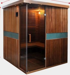 Quality Full Spectrum Far Infrared Sauna Cabin , Canadian Cedar Garden Dry Heat Sauna for sale