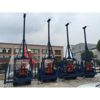 China Small Diamond Drill Rig Crawler Mounted 100 Meters Seperated Water Pump wholesale