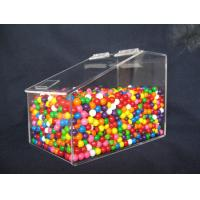China Clear Custom Acrylic Display Case For Jelly Beans Candy 3MM 6MM wholesale