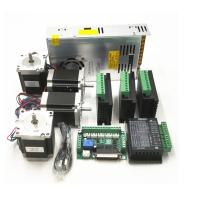 China CNC Router Kit TB6600 4.0A Stepper Motor Driver + Nema23 255OZ.IN + 5 Axis Interface Board + Power Supply wholesale
