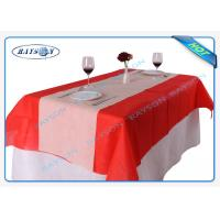 China Size 120CMX100CM Square Disposable Non Woven Tablecloth Eco-friendly and Recyclable wholesale