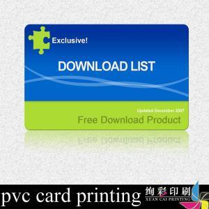 China Laser Hologram Label Printed Plastic Cards Matte Surface For Advertising wholesale