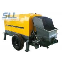 China Large Capacity Mobile Cement Mortar Pump Long Service Life 12 Months Warranty wholesale