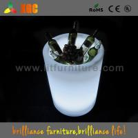 China Club / Bars / Party Clear Illuminated Ice Bucket Plastic Infrared Remote Control wholesale