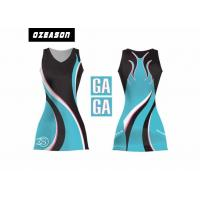 China Sports Team Clothing Sublimated Netball Dresses With Netball Bibs wholesale