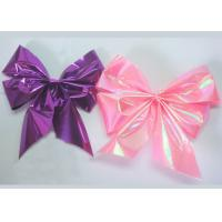 Quality Plastic tie christmas ribbon bow with elastic for gift , candy , chocolate packaging for sale